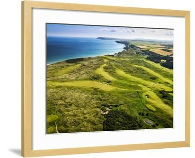 Aerial of Royal Portrush Golf Club on the North Coast of Northern Ireland-Chris Hill-Framed Photographic Print