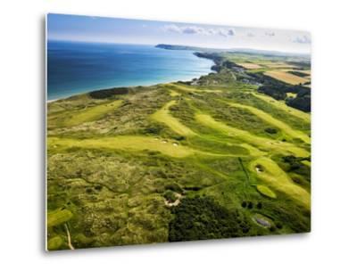 Aerial of Royal Portrush Golf Club on the North Coast of Northern Ireland-Chris Hill-Metal Print