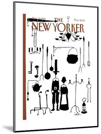 The New Yorker Cover - November 29, 1982-Arnie Levin-Mounted Premium Giclee Print