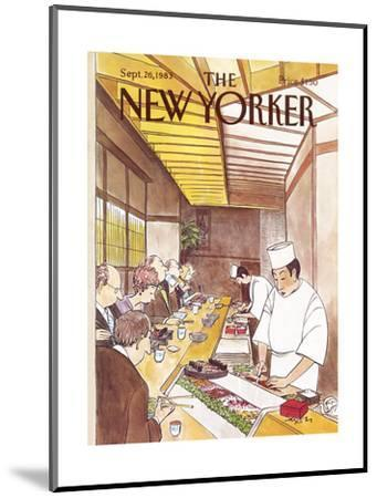 The New Yorker Cover - September 26, 1983-Charles Saxon-Mounted Premium Giclee Print