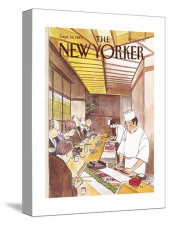 The New Yorker Cover - September 26, 1983-Charles Saxon-Stretched Canvas Print