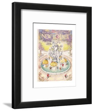 The New Yorker Cover - July 18, 1988-John O'brien-Framed Premium Giclee Print