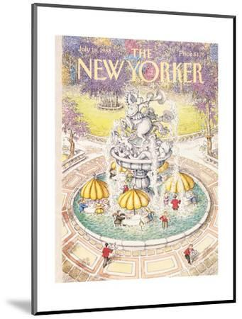 The New Yorker Cover - July 18, 1988-John O'brien-Mounted Premium Giclee Print