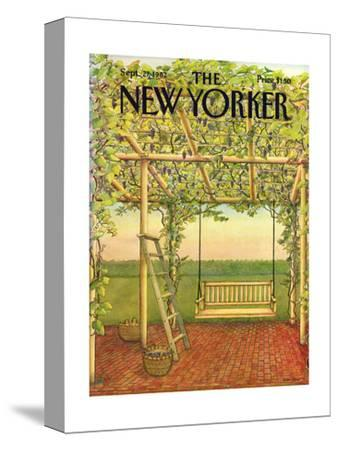 The New Yorker Cover - September 27, 1982-Jenni Oliver-Stretched Canvas Print