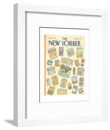 The New Yorker Cover - December 2, 1991-Roz Chast-Framed Premium Giclee Print