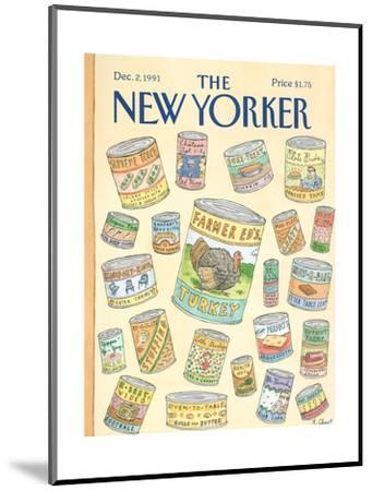 The New Yorker Cover - December 2, 1991-Roz Chast-Mounted Premium Giclee Print