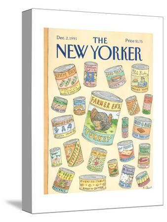 The New Yorker Cover - December 2, 1991-Roz Chast-Stretched Canvas Print