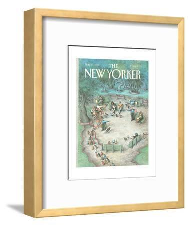 The New Yorker Cover - May 27, 1991-John O'brien-Framed Premium Giclee Print