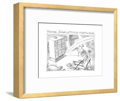 Home Shoplifting Network - Cartoon-John O'brien-Framed Premium Giclee Print
