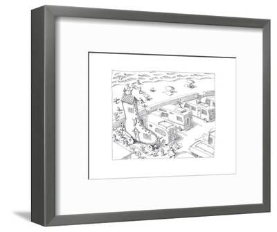 Fairytail camper - Cartoon-John O'brien-Framed Premium Giclee Print