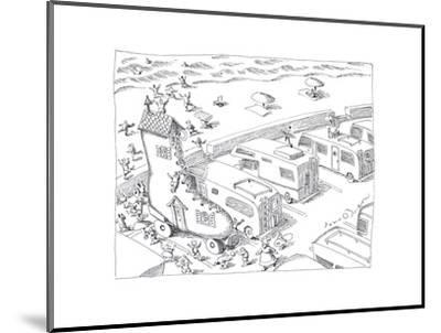 Fairytail camper - Cartoon-John O'brien-Mounted Premium Giclee Print