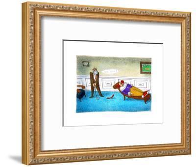 Go on! - Cartoon-John O'brien-Framed Premium Giclee Print