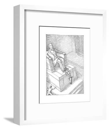 Lincolns shoelaces - Cartoon-John O'brien-Framed Premium Giclee Print