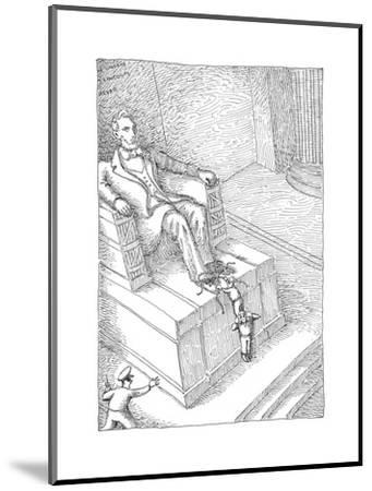 Lincolns shoelaces - Cartoon-John O'brien-Mounted Premium Giclee Print
