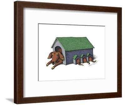 Cartoon-John O'brien-Framed Premium Giclee Print