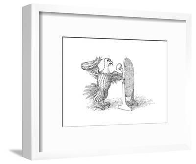 Eagle Mirror - Cartoon-John O'brien-Framed Premium Giclee Print