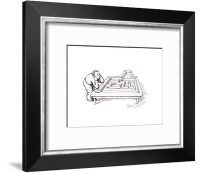 Fish maze - Cartoon-John O'brien-Framed Premium Giclee Print