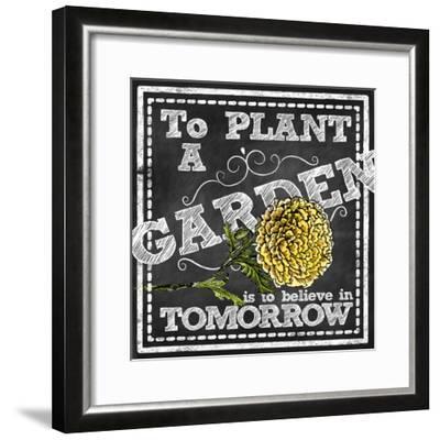 Planting a Garden--Framed Giclee Print