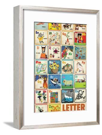 Vintage ABC--Framed Premium Giclee Print