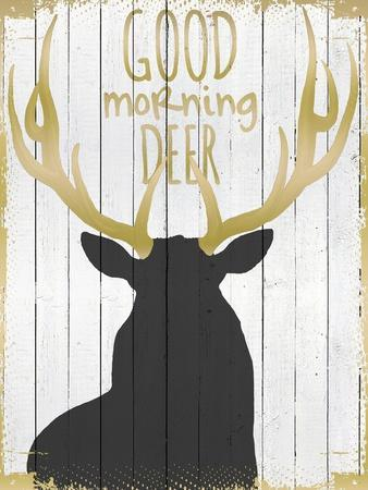 Good Morning Deer--Stretched Canvas Print
