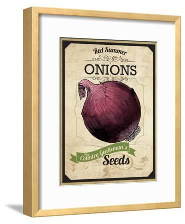 Vintage Onion Seed Packet--Framed Giclee Print