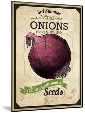 Vintage Onion Seed Packet--Mounted Giclee Print