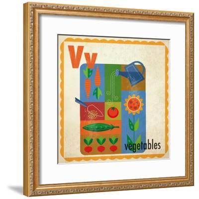 Vintage ABC- V--Framed Giclee Print