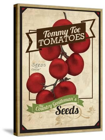 Vintage Tommy Tomato Seed Packet--Stretched Canvas Print