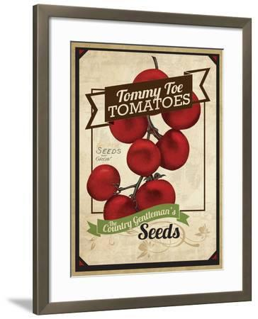 Vintage Tommy Tomato Seed Packet--Framed Giclee Print