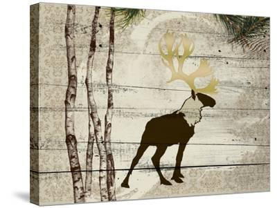 Woodland  Elk--Stretched Canvas Print
