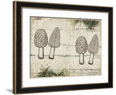 Woodland mushrooms--Framed Giclee Print