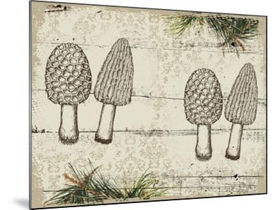 Woodland mushrooms--Mounted Giclee Print