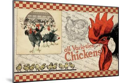 Checkered Chicken 6--Mounted Giclee Print