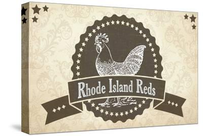 Rhode Island Reds 3--Stretched Canvas Print