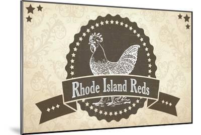 Rhode Island Reds 3--Mounted Giclee Print