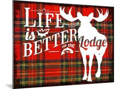 Better at the Lodge--Mounted Giclee Print
