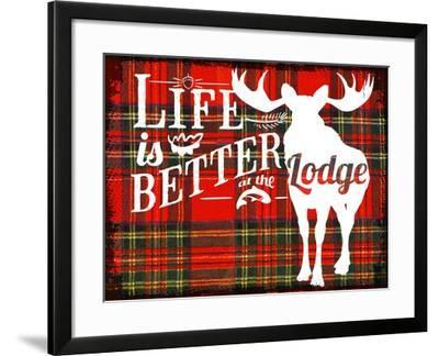 Better at the Lodge--Framed Giclee Print