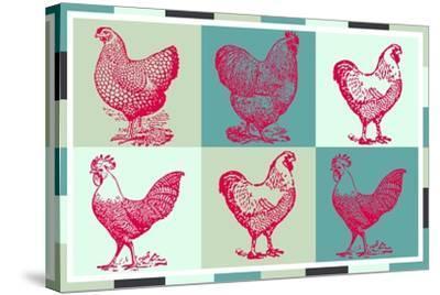 Chicken Pop 3--Stretched Canvas Print