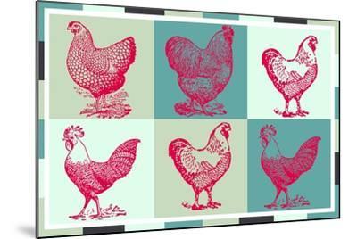 Chicken Pop 3--Mounted Giclee Print