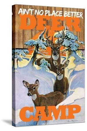 Deer Camp--Stretched Canvas Print