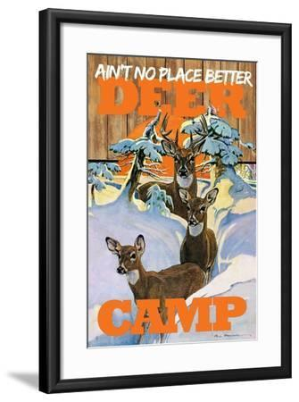 Deer Camp--Framed Giclee Print