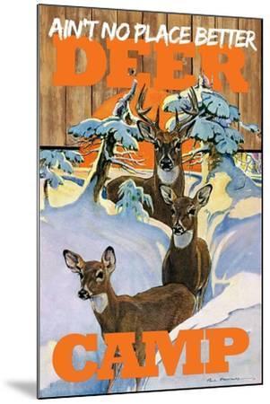 Deer Camp--Mounted Giclee Print