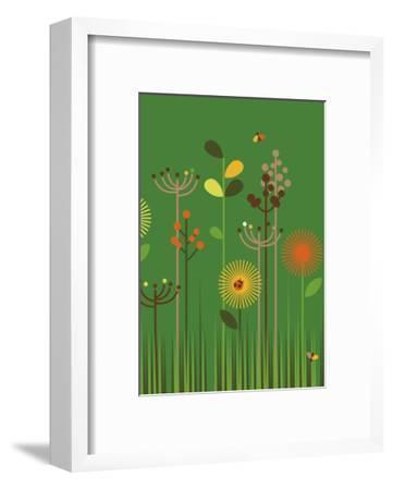 Green Meadow-Dicky Bird-Framed Giclee Print
