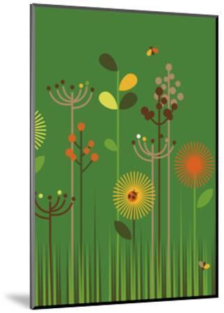 Green Meadow-Dicky Bird-Mounted Giclee Print