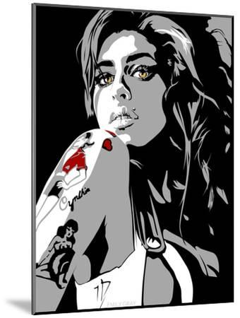 Amy Winehouse-Emily Gray-Mounted Giclee Print