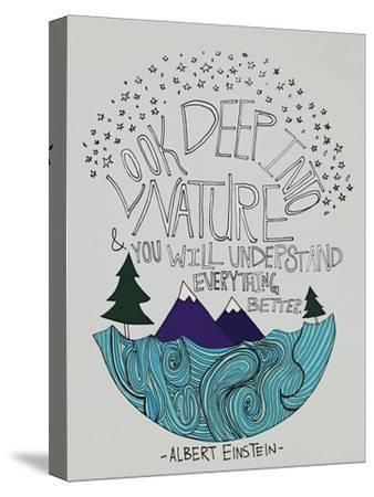 Einstein Nature-Leah Flores-Stretched Canvas Print