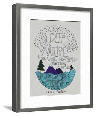 Einstein Nature-Leah Flores-Framed Premium Giclee Print