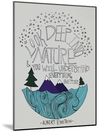 Einstein Nature-Leah Flores-Mounted Premium Giclee Print