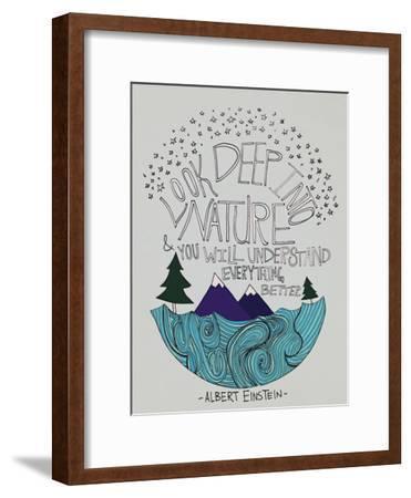 Einstein Nature-Leah Flores-Framed Giclee Print