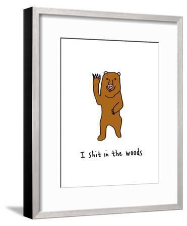I Shit in the Woods-Jennifer Camilleri-Framed Giclee Print
